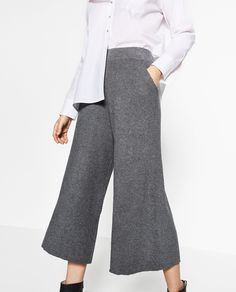 RIBBED TROUSERS-View all-KNITWEAR-WOMAN | ZARA United Kingdom