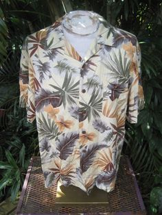 HAWAIIAN Aloha SHIRT XL pit to pit 25 CARIBBEAN JOE rayon tropical flowers  #SeeDescription #Hawaiian