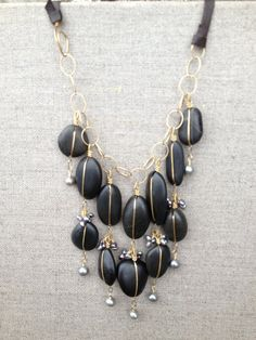 Chuckanut Black Jade Necklace Modern & by ChelseaJepsonArts, $235.00