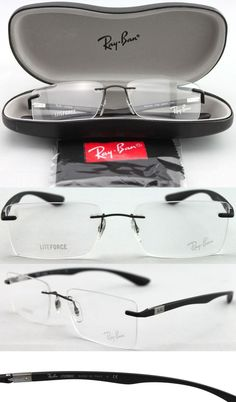 1c6aa2ff41a ... see you with! Eyeglass Frames  New Authentic Ray-Ban Rb 8720 1128  Rimless Black Temples Eyeglasses -