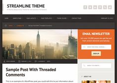 Elegant wordpress theme anme is streamline by studiopress design for download and demo here