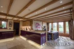 Case Study: Craftsmanship shines through in dramatic oak-framed extension - Oakmasters Distressed Kitchen, House, House Extensions, Home, Oak Framed Extensions, Modern, Old Houses, Craftsmanship, Oak