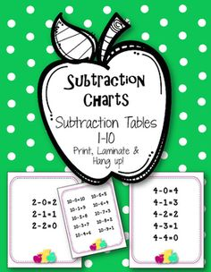 10 Subtraction Charts!