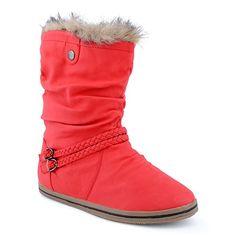 Damen Schlupf Herbst Winter Stiefel Stiefeletten Schnalle Kunstfell Boots  Schuhe  Amazon.de  Schuhe 95e05629e1