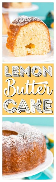 This Lemon Butter Cake is a dense and delicious pound cake loaded with sugar, butter, and lemon for the ultimate summertime cake! via @sugarandsoulco