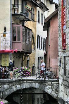 Annecy,  dans les Alpes, France