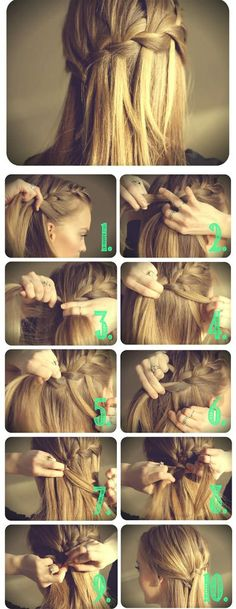 waterfal braids