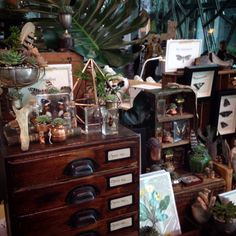 Naturalis: The taste of Petrol and Porcelain | Interior design, Vintage Sets and Unique Pieces www.petrolandporcelain.com Stall set up The Naturalist