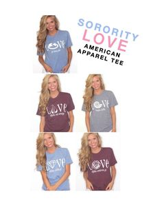 ShopRiffraff Copyright exclusive tee. Show your greek love in these Love Greek tees!! Both comfy and cute, dressed up or down!