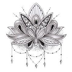 Tatuaje flor de loto temporal por TattooLifeStyle en Etsy Más