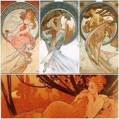 Art by Alphonse Mucha | Art Nouveau Alphonse Mucha http://allieveryday.wordpress.com/2010/02 ...