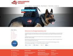 Amalgamated Security Web Site by Scorched Media - www.scorchedmedia.com.au Brisbane, Portfolio Web Design, Security Service