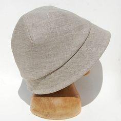 80665a78e4123 French linen sun hat Natural linen cloche©ZUTkiki linen sun Sombreros Y  Tocados
