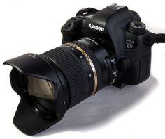 Boitier reflex full frame semi-pro CANON 6D, flash COBRA CANON 430 EX II et son objectif grand angle TAMRON 24-70mm f/2.8.
