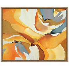 An abstract use of gorgeous, rich color, this contemporary canvas wall art features an understated, complementing frame.
