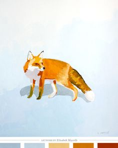 I do love a good fox.   Creature Comforts - daily inspiration, style, diy projects + freebies