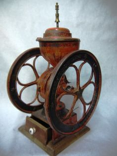 Antique Spice Mill & Inlaid Cutting Board | Goodwill Finds ...