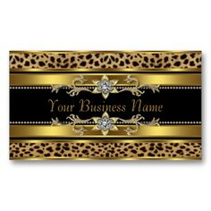 Gold Black Leopard Business Cards created by CorporateCentral. This design is available on several paper types and is totally customizable.