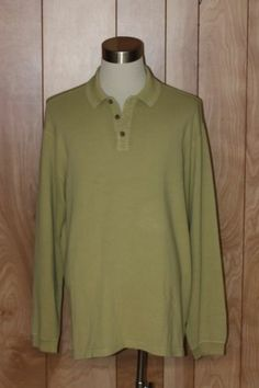 MEN'S TOMMY BAHAMA LONG SLEEVE POLO SHIRT-SIZE: XL