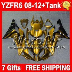 Купить товар7 подарки для YAMAHA блеск золота YZFR6 2008 2009 2010 2011 2012 P97233 YZF R6 YZF R6 08 09 10 11 12 золотой черный YZF600 обтекателя в категории Щитки и художественная формовкана AliExpress.                              Удостоверение личности aliexpress: MotoGP