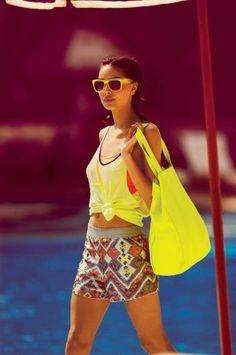 Bronzed Swimwear Ads - The H&M Beach Sensation Summer 2012 Campaign Stars Isabeli Fontana (GALLERY)