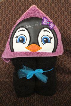 Hooded towel penguin