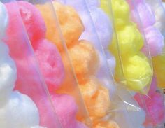 cotton candy happy-tummy-makes-happy-me Neon Party, Candy Party, Yummy Treats, Sweet Treats, Candy Craze, Cookie Pops, Candy Floss, Colorful Candy, Pastel Candy