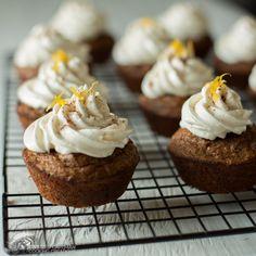 Cinnamon Chocolate Chip Muffins   Honey Frosting