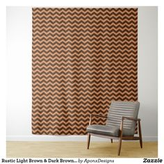 Shop Rustic Light Brown & Dark Brown Wavy Pattern Tapestry created by AponxDesigns. Rustic Lighting, Your Perfect, Tapestries, Wall Tapestry, Dark Brown, Curtains, Pattern, Room, Design