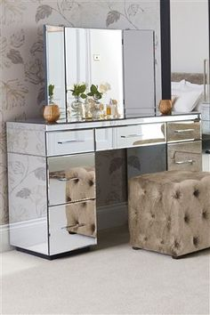 Buy Simpson Dressing Table from the Next UK online shop Dressing Table Vanity, Dressing Room, Console Table, Double Vanity, Uk Online, Bedrooms, Room Ideas, House, Stuff To Buy