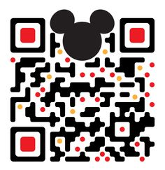 QR code links to Disney World, Orlando website.