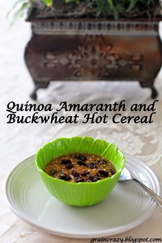 Grain Crazy: Nutmeg and Quinoa, Amaranth and Buckwheat Cereal and the benefits of nutmeg .