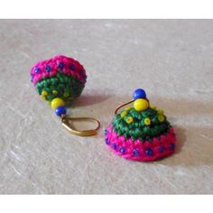 the traditional indian jhumka handcrocheted in vibrant indian shades..:-)