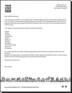 real estate letters free templates thevillas co
