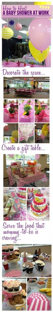 how to host a baby shower at work via SewWoodsy.com #babyshower #entertaining
