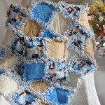 Baby Rag Quilt Blue and...