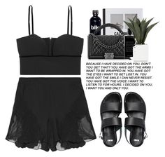 """""""- Unconditionally Noir -"""" by lolgenie ❤ liked on Polyvore featuring STELLA McCARTNEY, Alexander McQueen, Patagonia, Chanel, Agonist and ASOS"""