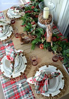 Christmas Woodland tablescape