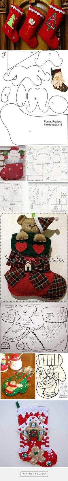 Christmas Crafts For Gifts, Christmas Ornament Crafts, Christmas Sewing, Christmas Art, Christmas Projects, Christmas Stockings, Christmas Wreaths, Christmas Decorations, Christmas Templates