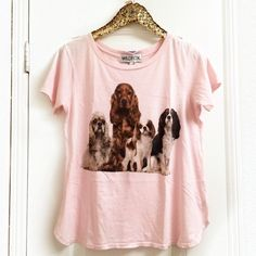 •WILDFOX• Little Beggars Tee New with tags, these super cute pups are just begging to be adopted ❤️ Wildfox Tops Tees - Short Sleeve