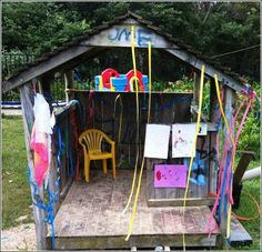 let the children play: just one spark: a play based program Outdoor Forts, Outdoor Play, Outdoor Ideas, Outdoor Spaces, Outside Playground, Playground Ideas, Preschool Playground, Preschool Ideas, Teaching Ideas