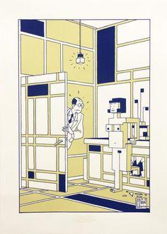 The future of Piet Mondriaan - Joost Swarte - Griffioen Grafiek