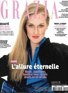 List of Best Grazia Magazine Covers (Photos) Editorial Magazine, Grazia Magazine, Vogue Magazine Covers, Cosmopolitan Magazine, Meryl Streep, Celine, Covergirl, Fitness Motivation, Grease