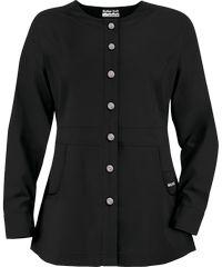 Butter-Soft Scrubs by UA™ Ladies Button Front Warm-Up Jacket w/ Rhinestone Detail