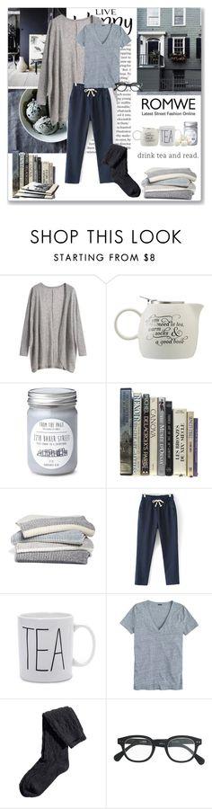 """Grey Cardigan"" by ludmyla-stoyan ❤ liked on Polyvore featuring moda, Tea Forté, Barefoot Dreams, J.Crew, H&M, romwe, grey y cardigan"