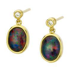 AUSTRALIA OPAL - Opal Earrings (E6600GB), $177.00 (http://www.australiaopal.com.au/opal-earrings-e6600gb/)