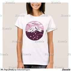 Mt. Fuji (Pink) T-Shirt #mtfuji #fuji #japan #sakura #cherryblossoms