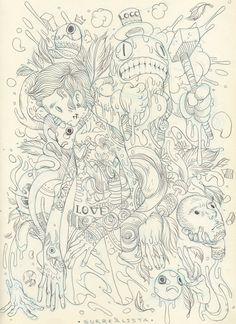 Sketchbook 2012 by Raul Urias