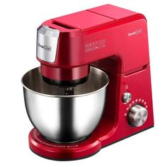The Geek Chef qt. Mini Stand Mixer is a compact, multifunctional stand mixer that features planetary mixing abilities. Offering an electronic speed control with 7 speeds, this space-saving stand mixer comes with a whisk, beater, and more. Red Kitchen Accessories, Hand Held Blender, Electronic Speed Control, Kitchen Mixer, Nice Kitchen, Kitchen Ideas, Stainless Steel Bowl, Best Blenders, Head Stand