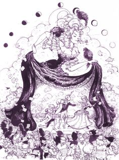 By Molly Crabapple (from The Graphic Canon: The Definitive Anthology of the World's Great Literature as Comics and Visuals, edited by Russ Kick, published by Seven Stories Press (2012)) (pen and ink)